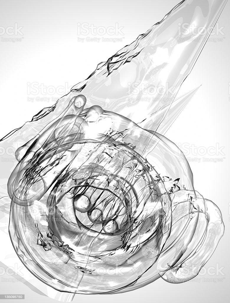 Liquid ice fluid abstract royalty-free stock photo