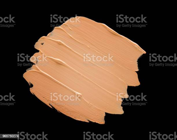 Liquid Make Up Foundation Black Background Stock Photo - Download Image Now