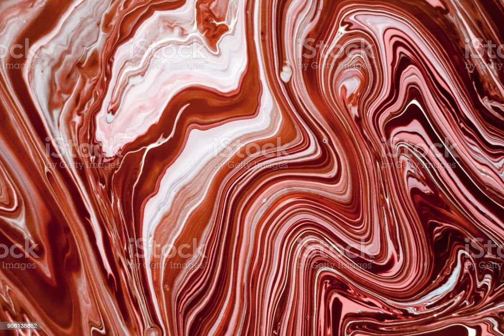 Liquid Marble Texture With Pink White And Brown Colors
