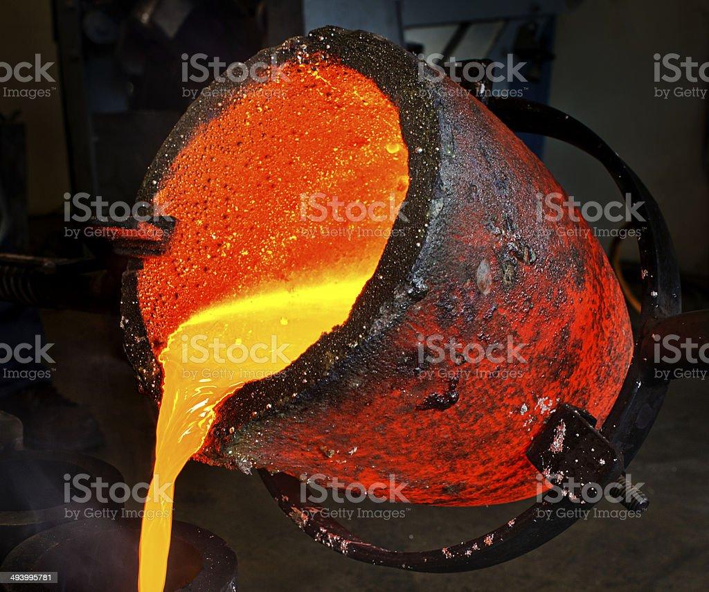 Liquid Molten Steel Industry stock photo
