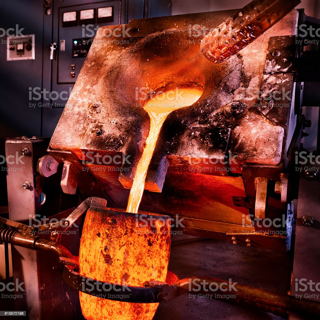Liquid geschmolzenen Stahl Lizenzfreies stock-foto