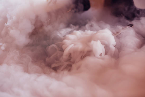 liquid nitrogen for cooking culinary masterclass Molecular Chef nitrogen stock pictures, royalty-free photos & images