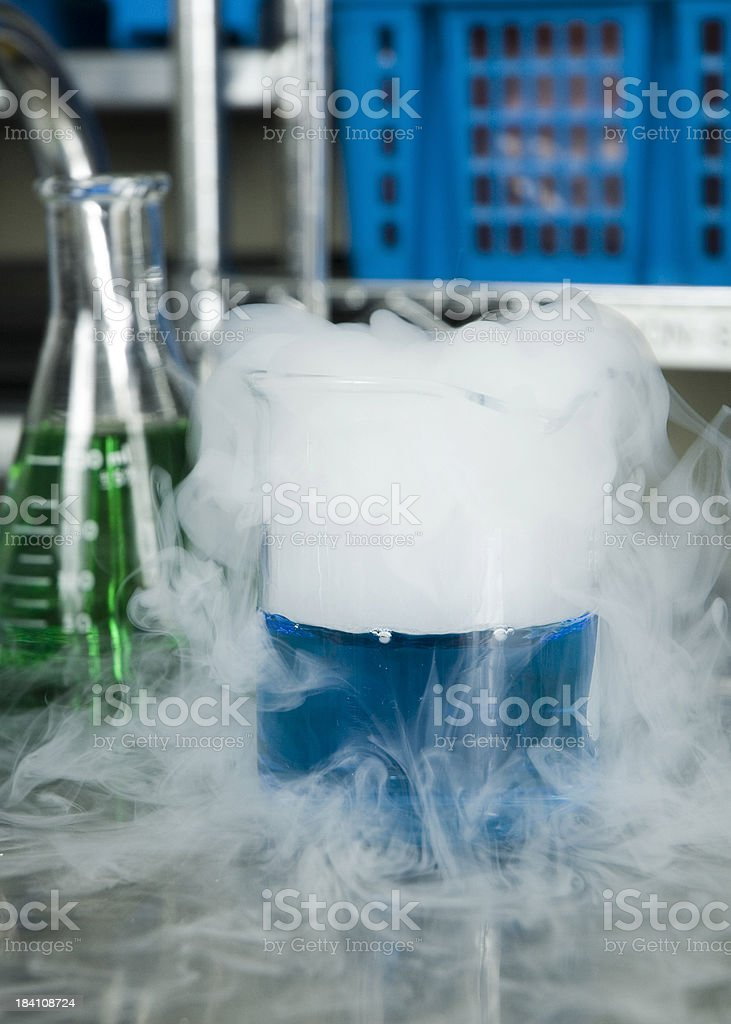 Liquid Nitrogen royalty-free stock photo