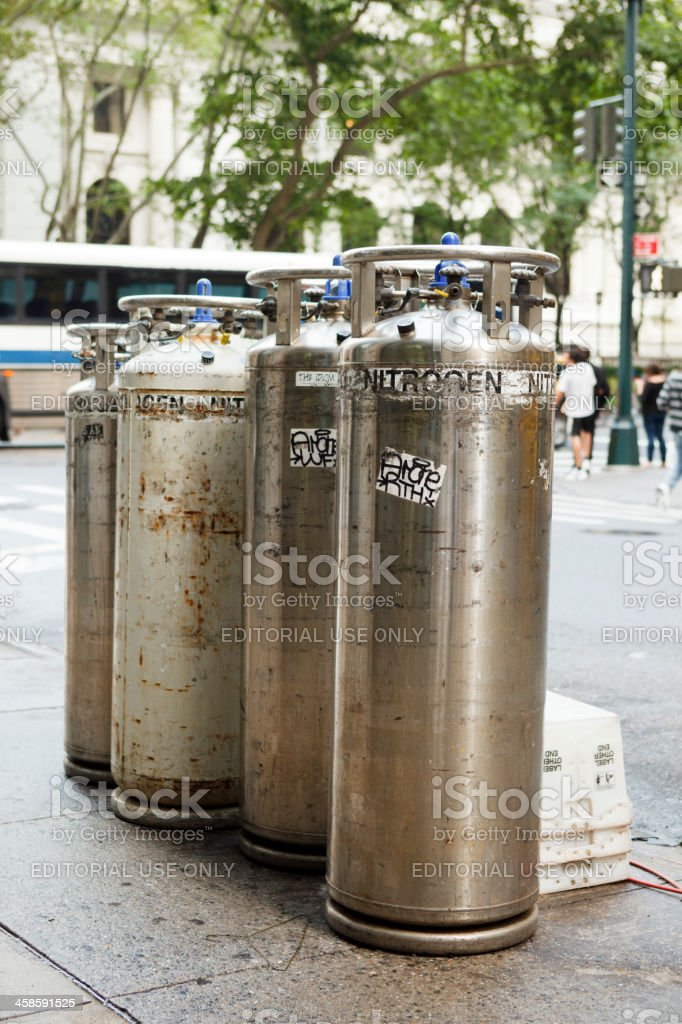 Liquid Nitrogen Tanks New York City royalty-free stock photo