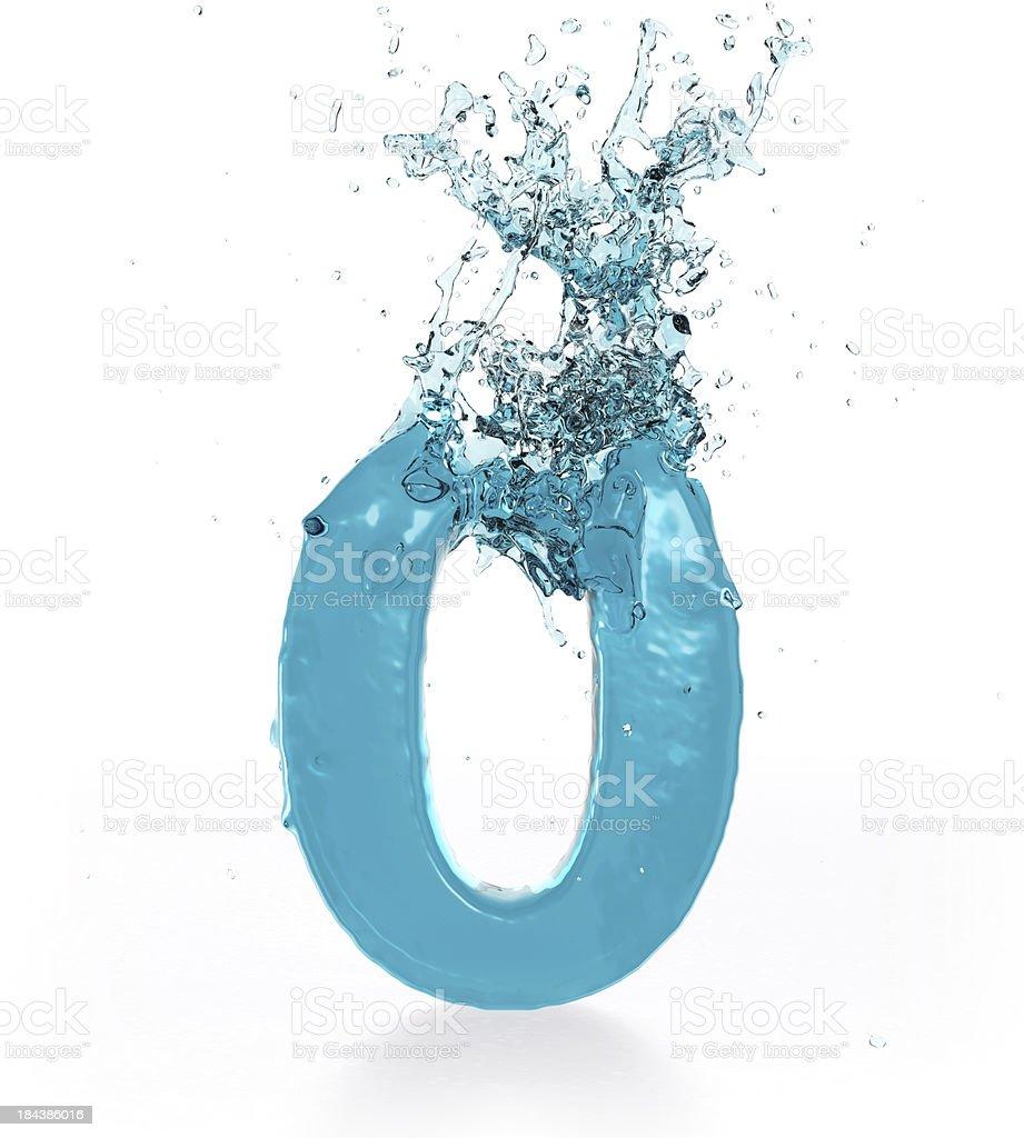Жидкий число 0 стоковое фото