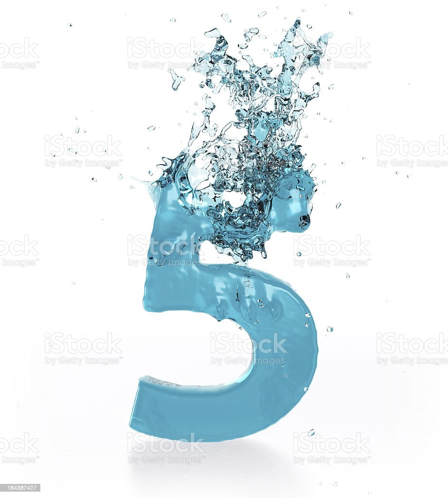 Liquid Number 5 stock photo