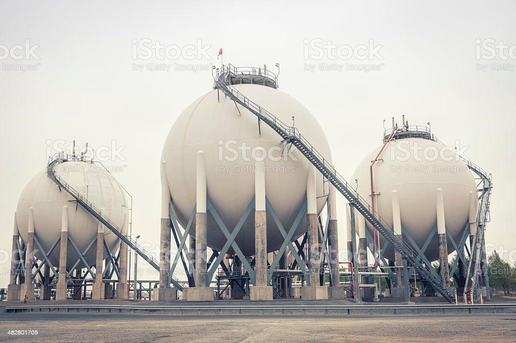 Liquid Petroleum Gas Storage stock photo