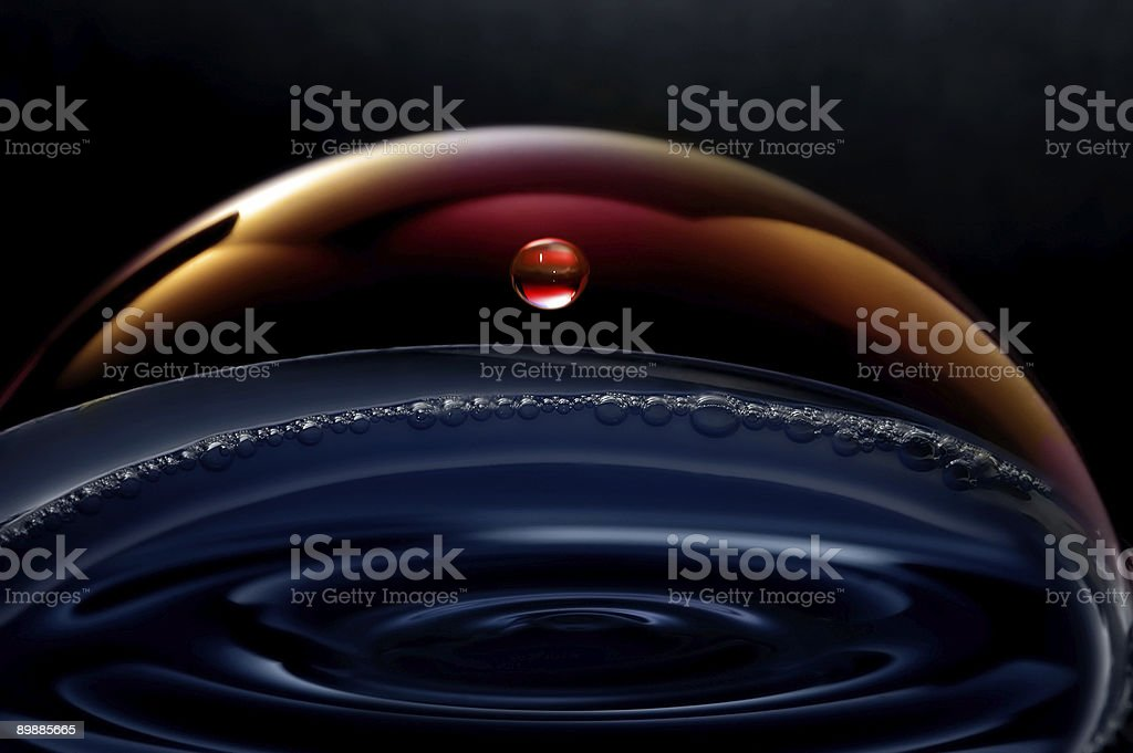 Liquid planets in the space royalty free stockfoto