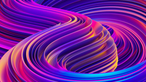 liquid shapes abstract holographic 3d wavy background - wir kształt zdjęcia i obrazy z banku zdjęć