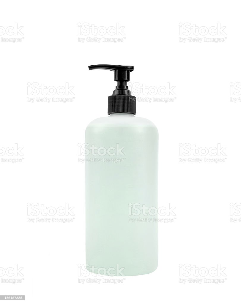 Liquid soap isolated on white royalty-free stock photo