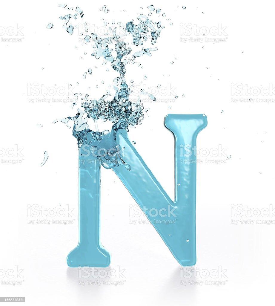 Liquid Sphash N royalty-free stock photo