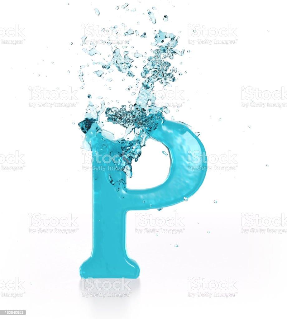 Liquid Sphash P royalty-free stock photo