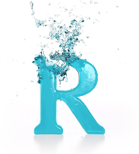 Liquid Sphash R stock photo