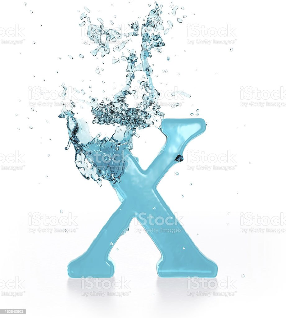 Liquid Sphash X royalty-free stock photo