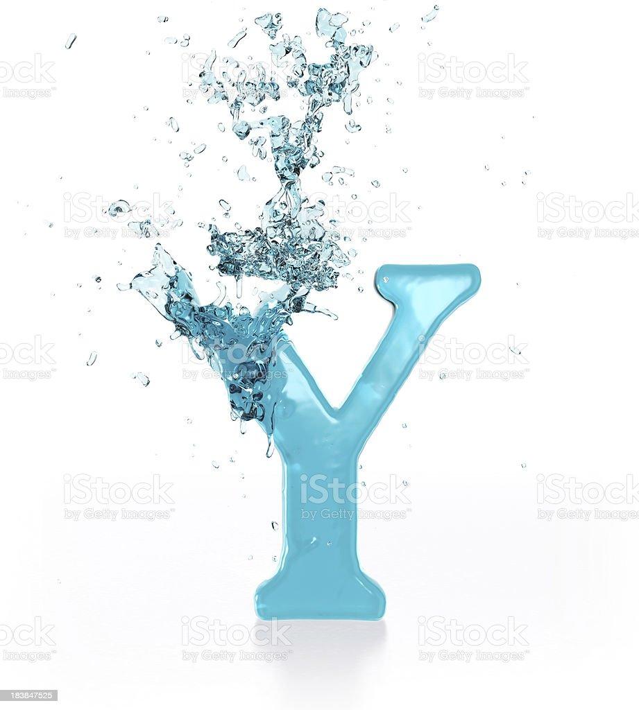 Liquid Sphash Y royalty-free stock photo