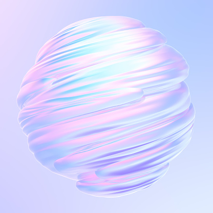 istock Liquid twisted holographic 3D shape texture object 1181409302