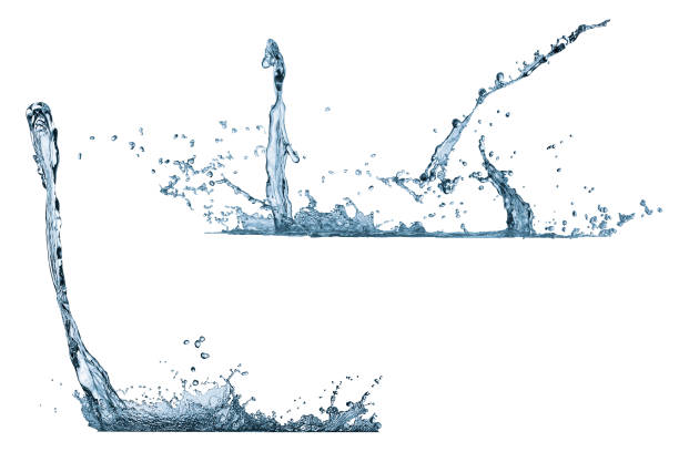 Liquids spattered on an isolated background stock photo