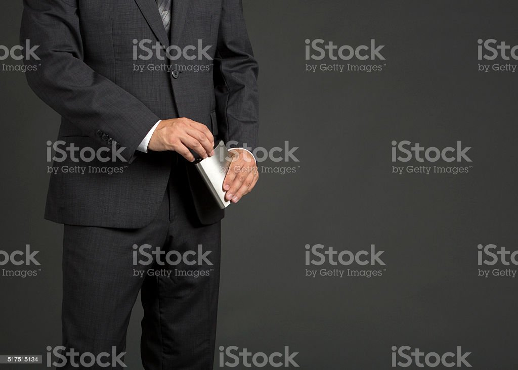 Liquor Flask stock photo