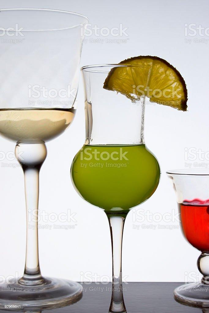 Liquor glasses royalty-free stock photo