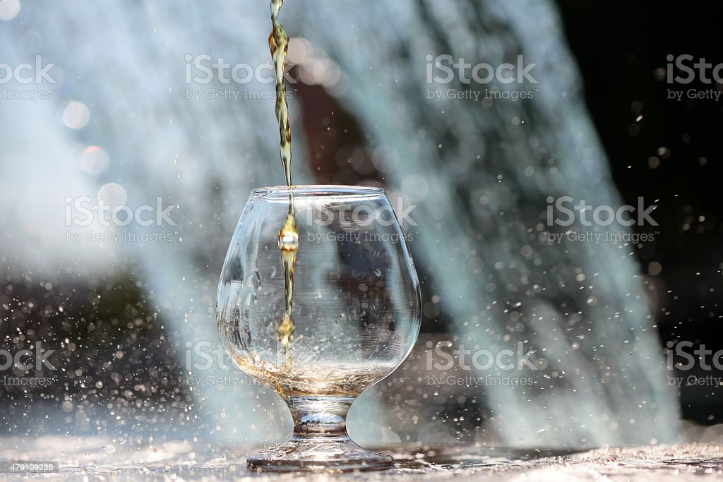 Liquor poured in bocal stock photo