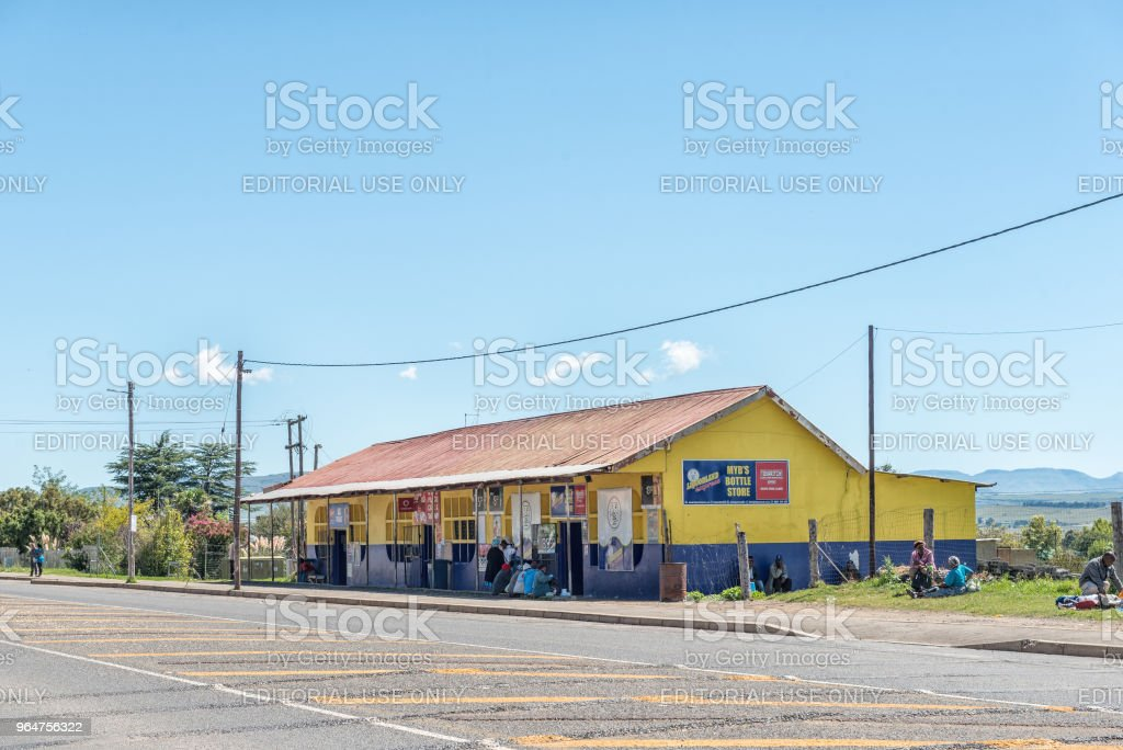 Liquor store in Cedarville in the Eastern Cape Province royalty-free stock photo