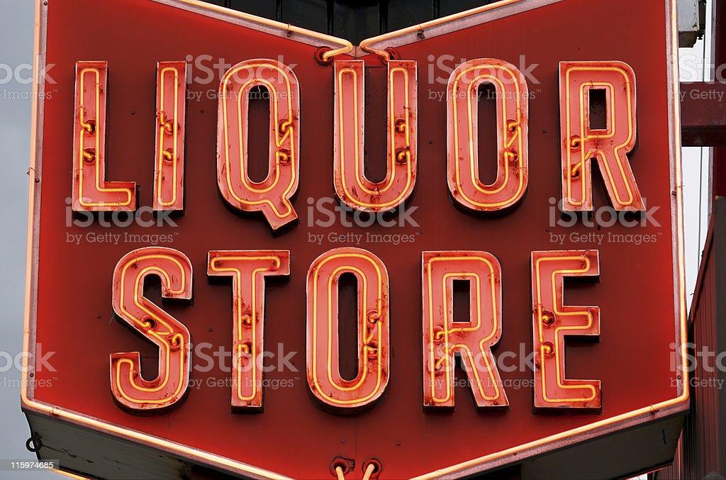 Liquor Store Sign stock photo