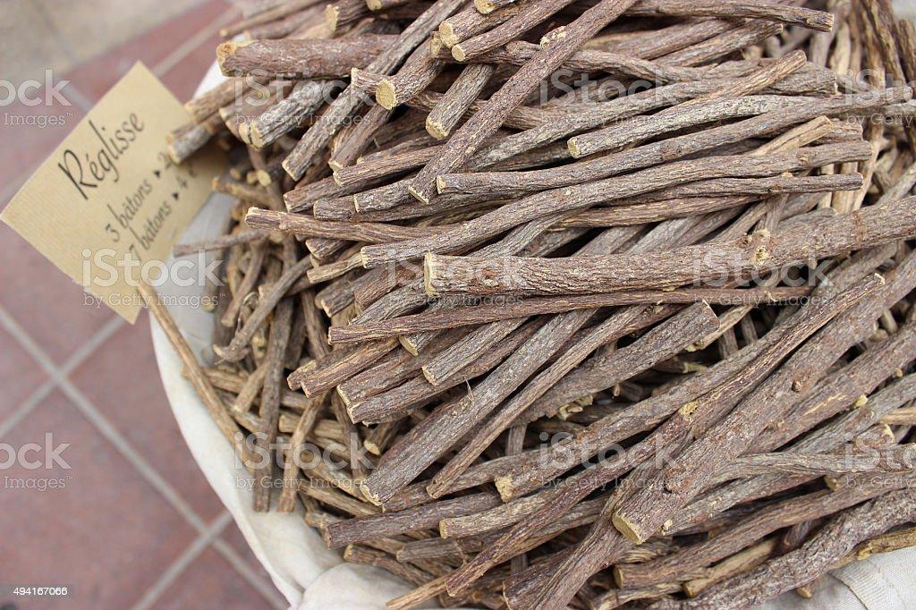Liquorice Roots stock photo