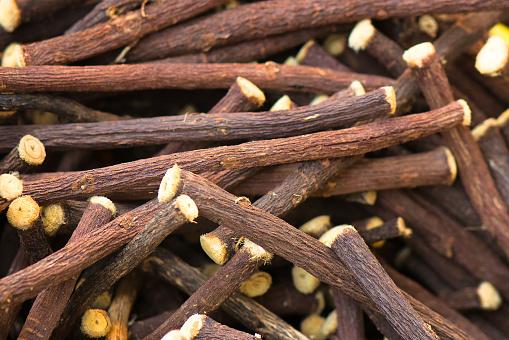 Liquorice Stick Background - Fotografie stock e altre immagini di Aromaterapia