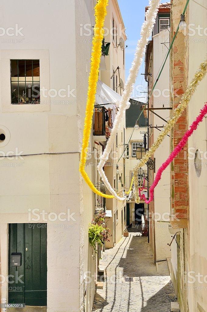Lisbon Alfama City Street royalty-free stock photo