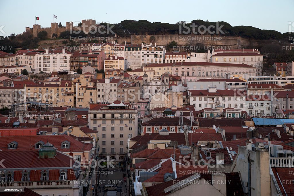 Lisbon and the São Jorge Castle royalty-free stock photo