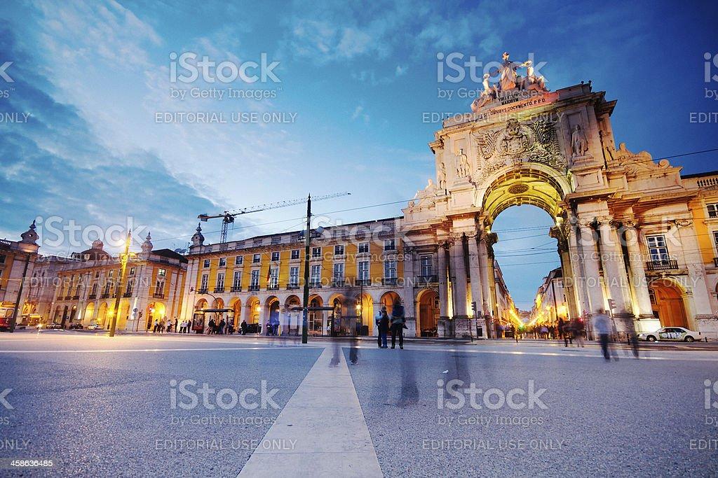 Lisbon at Nightfall stock photo
