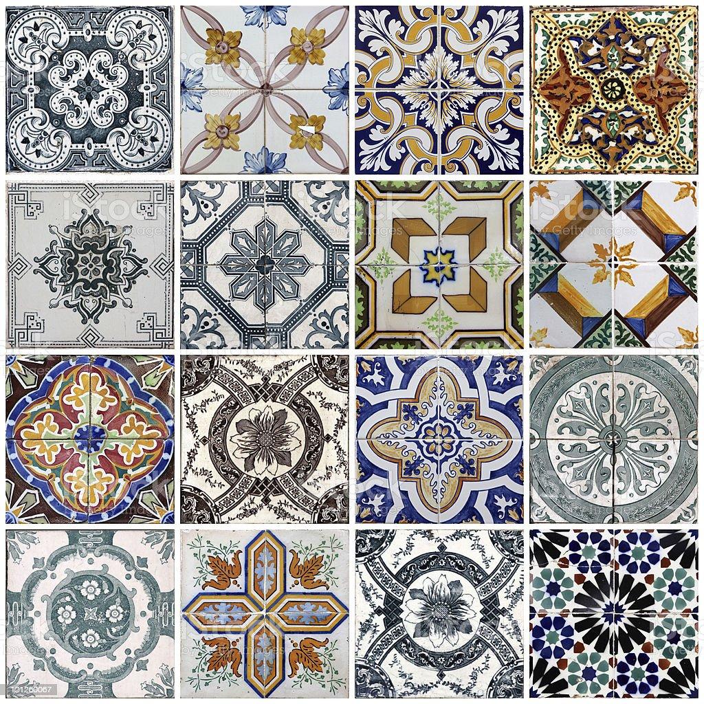Lisbon azulejos royalty-free stock photo