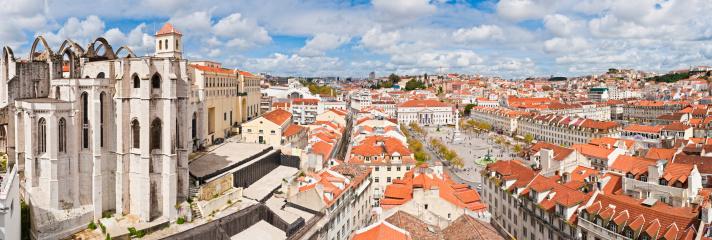 Lisbon Baixa Rossio Praça Dom Pedro Iv Rooftop Panorama
