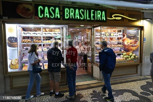 People visit Casa Brasileira bakery in Lisbon. Lisbon is the 11th-most populous urban area in the EU (2.8 million people).