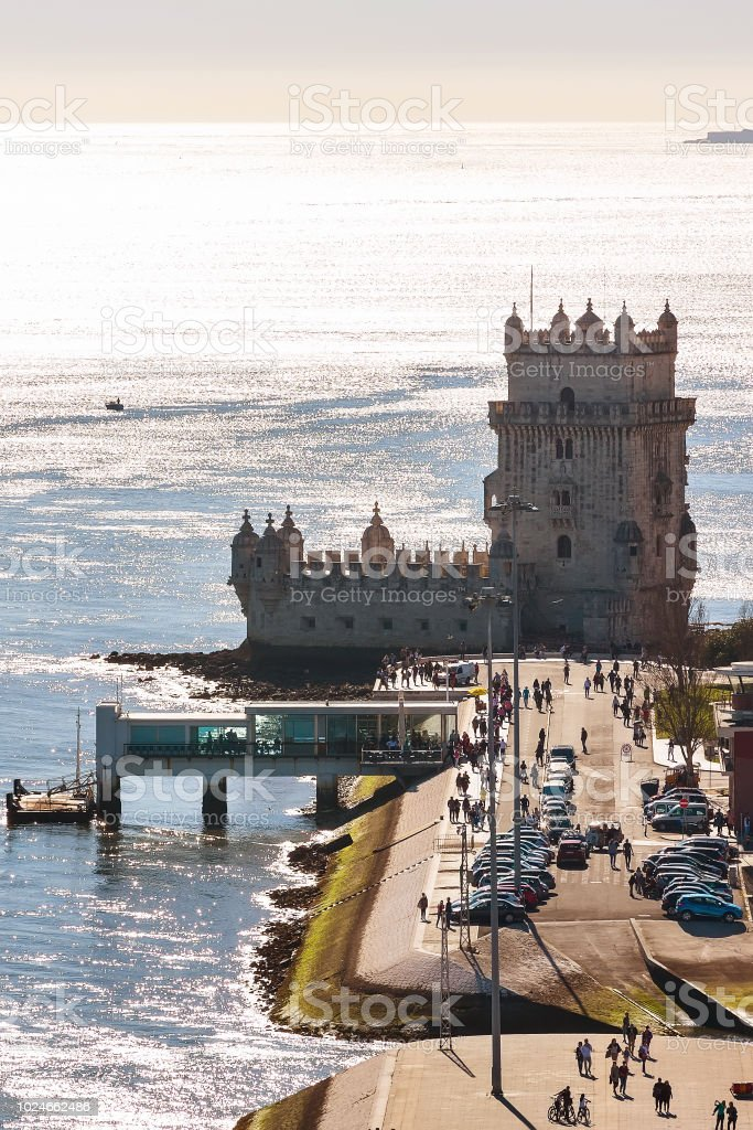 Lisbon, Belem Tower and Tagus River, Portugal stock photo
