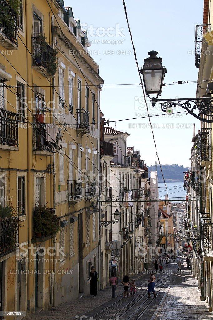 Lisbon, Bica neighborhood royalty-free stock photo