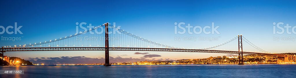 Lisbon Bridge Panorama stock photo