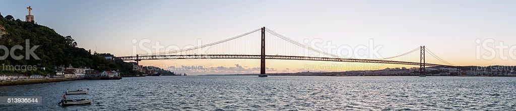 Lisbon Bridge Panorama stock photo