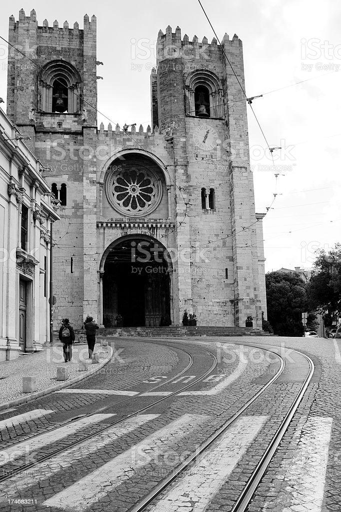 Lisbon Cathedral , Sé Patriarcal . stock photo