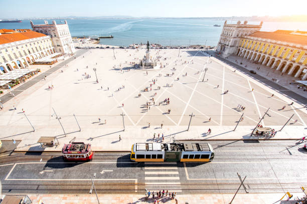 lisbon city in portugal - people lisbon imagens e fotografias de stock