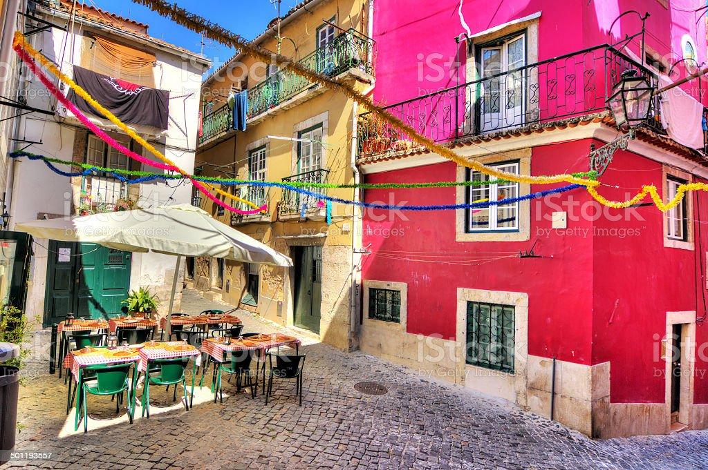 Lisbon colors stock photo
