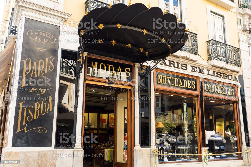 Lisbon Fashion Boutique stock photo