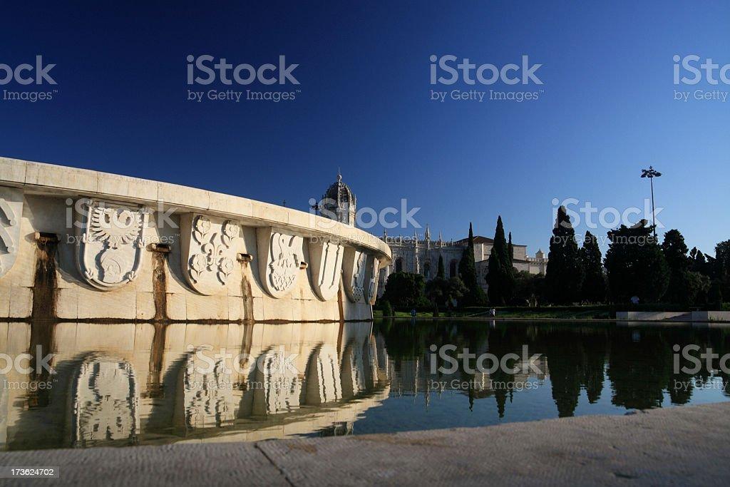 Lisbon Fountain royalty-free stock photo
