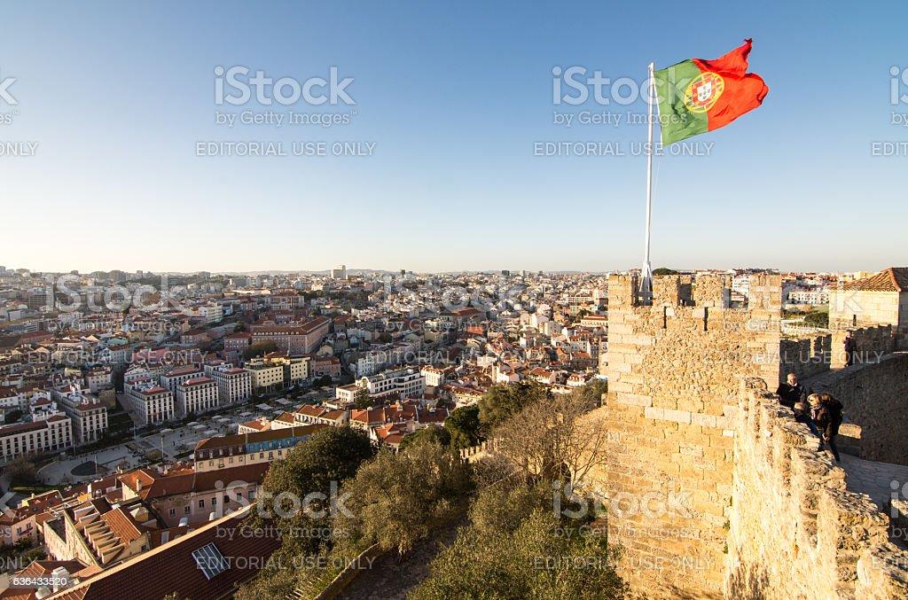 Lisbon from Castelo de Sao Jorge stock photo