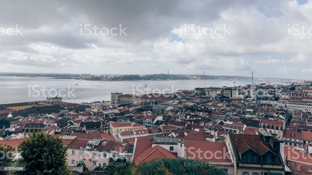 Lisbon from St Georges Castel royalty-free stock photo
