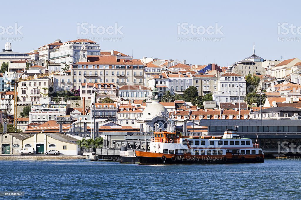 Lisbon from the Tagus river. royalty-free stock photo