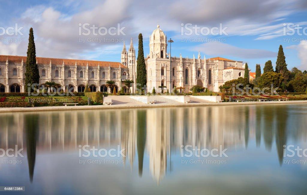Lisbon, Jeronimos Monastery or Hieronymites, Portugal stock photo