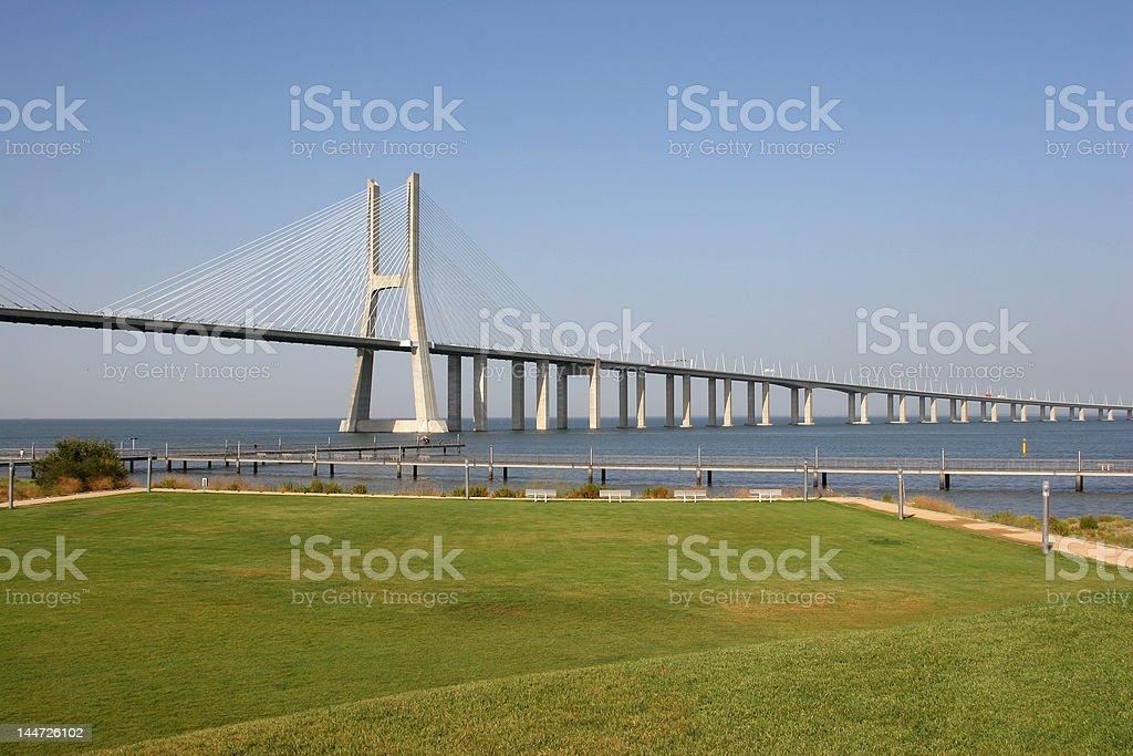 Lisbon Long Bridge royalty-free stock photo