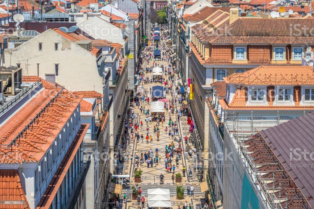 Antigua calle principal de Lisboa foto de stock libre de derechos