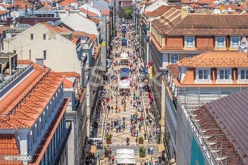 Antigua Calle Principal De Lisboa Foto de stock y más banco de imágenes de 2015